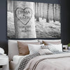 Canvas Print Forever My Love Tree Personalized Wall Art