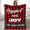 Comfort And Joy, Personalized Blanket For Family