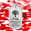 "Family ""Family Is Like A Tree""  Military Family Necklace"