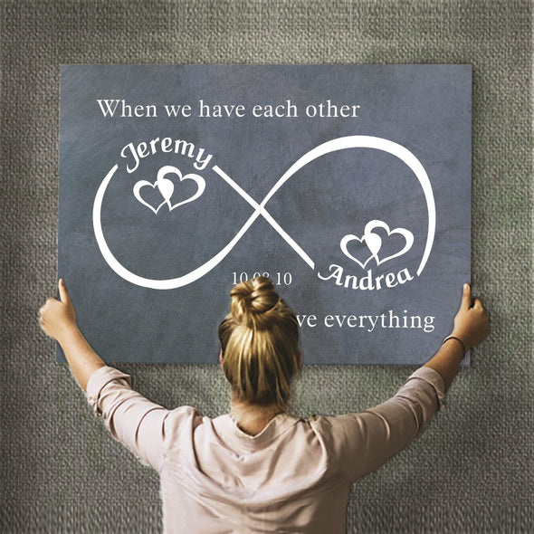 Infinity Canvas Each Other Infinity Personalized Premium Wall Art