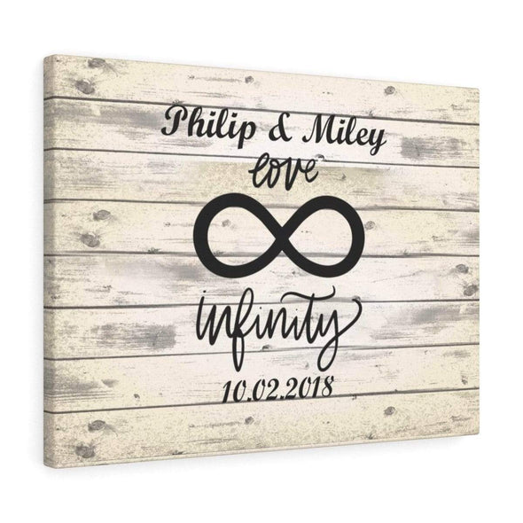 "Infinity Canvas 36"" x 24"" -BEST SELLER Personalized Infinity Love Wall Canvas - Perfect Gift For Your Partner - Free Shipping Today!"