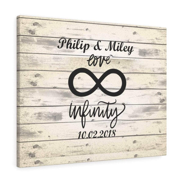 Infinity Canvas Personalized Infinity Love Wall Canvas - Perfect Gift For Your Partner - Free Shipping Today!