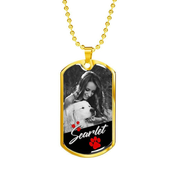 Jewelry Customized Pet Name & Image Necklace