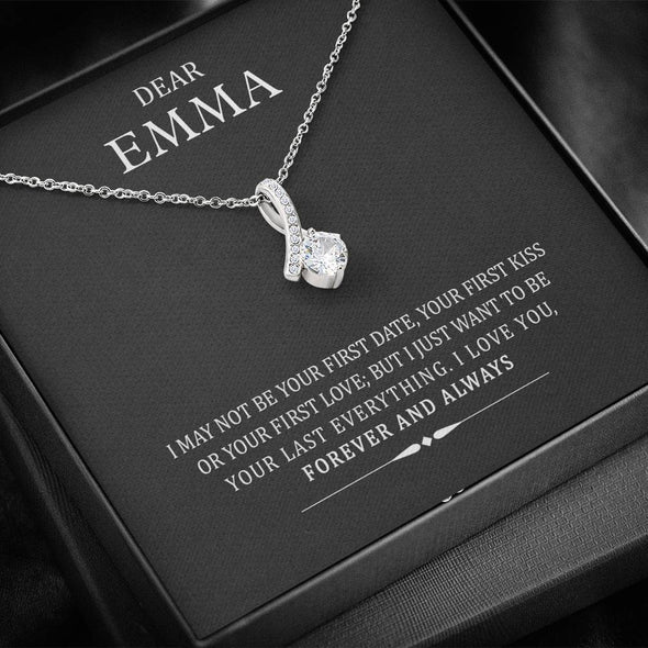 Jewelry To My Wife I Just Want To Be Your last Everything Customized Alluring Necklace