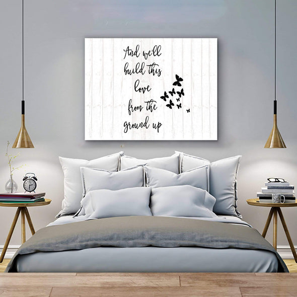Love Canvas Bedroom Wall Canvas For Lovely Couple