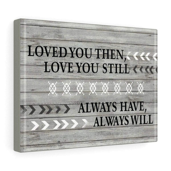 "Love Canvas 24"" x 16"" Love You Always Wall Art For Bedroom"