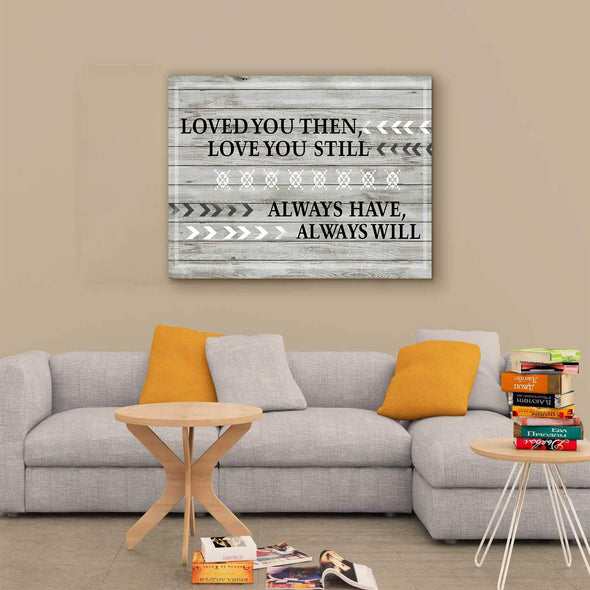 "Love Canvas 36"" x 24"" -BEST SELLER Love You Always Wall Art For Bedroom"