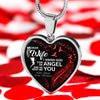 "Necklace For Wife ""Dear Wife You Are My Angle"" Necklace For Your Love **With Transparency**"