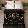 Personalized Blanket Custom Blanket For The Love Of Your Life - Personalize With Your & Partner's Name