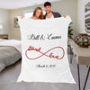 "Personalized Blanket ADULT - 60""X80"" BEST SELLER / White Eternal Love Couples Blanket"