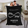 "Personalized Blanket Love You ""Always & Forever"" Personalized Mr & Mrs. Blanket"