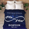 Personalized Blanket Mr & Mrs. Personalized Galaxy Blanket With Name And Wedding Year