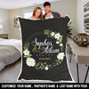 "Personalized Blanket ADULT - 60""X80"" BEST SELLER Personalized Blanket For Couples"