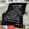 Personalized Blanket Personalized Blanket: To My Fiancé with Your Name - Perfect gift for Fiancé