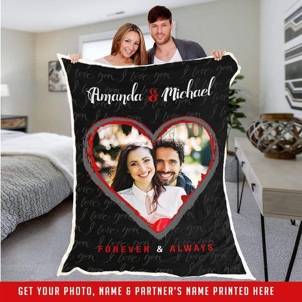 Personalized Blanket Personalized Heart Picture Fleece Blankets