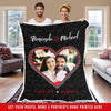 "Personalized Blanket Black / Adult-Best Selling-60""X80"" Personalized Heart Picture Fleece Blankets"