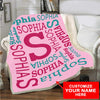 "Personalized Blanket Adult-Best Selling-60""X80"" Personalized Name Blanket Best Gift"