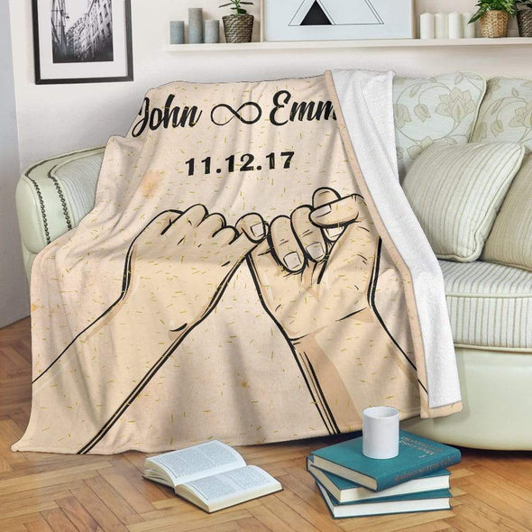 Personalized Blanket Pinky Promise Personalized Blanket