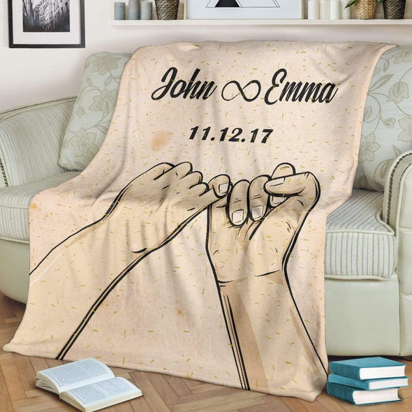 "Personalized Blanket Adult-Best Selling-60""X80"" Pinky Promise Personalized Blanket"