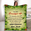"Personalized Blanket ""Thanking You For The Selfless Love, Customized Blanket For Wife"""