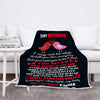 "Personalized Blanket ""To My Boyfriend I Love You So Much""- Personalized Blanket"