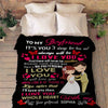 "Personalized Blanket Adult-Best Selling-60""X80"" ""To My Boyfriend I Love You With My Whole Heart ""- Personalized Blanket"