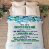 "Personalized Blanket Adult-Best Selling-60""X80"" ""To My Boyfriend The Best Things In Life Are You And Me""- Personalized Blanket"