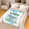 "Personalized Blanket Youth-50""x60"" ""To My Boyfriend The Best Things In Life Are You And Me""- Personalized Blanket"