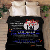 "Personalized Blanket Adult-Best Selling-60""X80"" ""To My Boyfriend You Mean The World To Me""- Personalized Blanket"