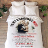 "Personalized Blanket ADULT - 60""X80"" BEST SELLER / WHITE To My Gorgeous Wife Custom Blanket"