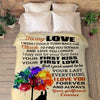 "Personalized Blanket Adult-Best Selling-60""X80"" ""To My Love Your First Love Your First Kiss""- Personalized Blanket"