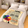 "Personalized Blanket Youth-50""x60"" ""To My Love Your First Love Your First Kiss""- Personalized Blanket"