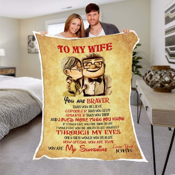 Personalized Blanket To My Wife Personalized Blanket