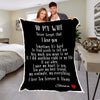 "Personalized Blanket Adult-Best Selling-60""X80"" / Black To My Wife Personalized Blanket"