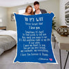 "Personalized Blanket Adult-Best Selling-60""X80"" / Blue To My Wife Personalized Blanket"