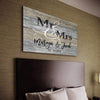 Personalized Canvas Mr & Mrs Personalized Couple Home Decor