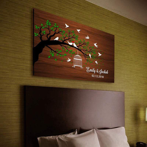 Personalized Canvas Personalized Love Tree Canvas Wall Art - Exclusively Made