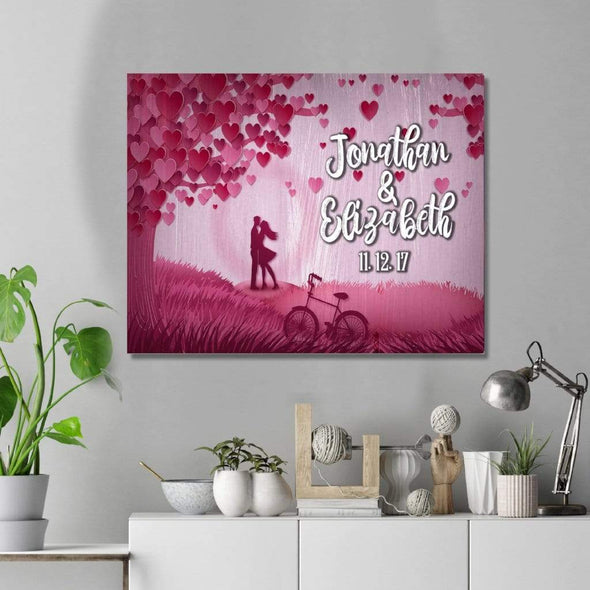 Personalized Canvas Personalized Love Tree Custom Canvas Wall Art