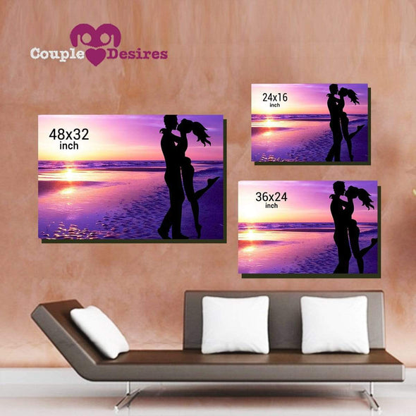 "Personalized Canvas ""Stars Come Together For Us"" Customized Wall Art"