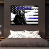Thin Blue Line Canvas Custom Personalized Thin Blue Line Canvas