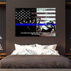 Thin Blue Line Canvas I Will Fear No Evil-Thin Blue Line Canvas