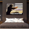 Thin Blue Line Canvas Personalized Police Canvas Wall Decor
