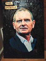 Paul Gascoigne Portrait Painting, special celebrity portraits by Jim Kook