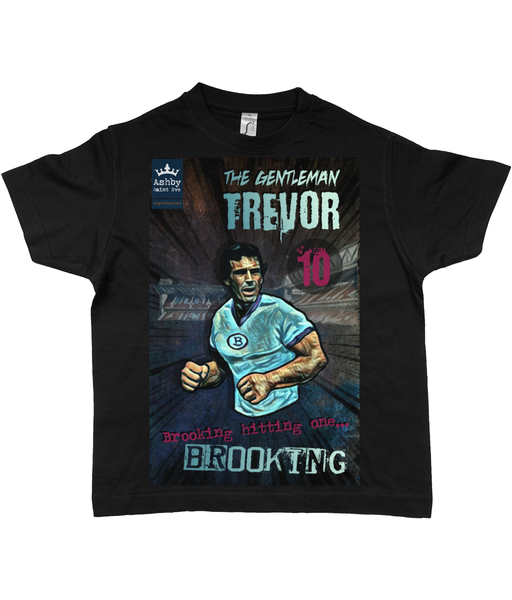 Trevor Brooking West Ham Kids T-shirt 100% Cotton (ages 2-12)