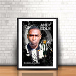 Newcastle United Andy Cole Toon Legend Poster