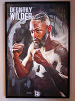 Deontay Wilder Portrait Painting, special celebrity portraits by Jim Kook