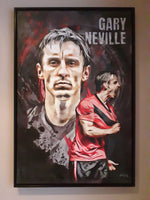 Gary Neville Portrait Painting, special celebrity portraits by Jim Kook