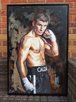 Joe Calzaghe Portrait Painting, special celebrity portraits by Jim Kook