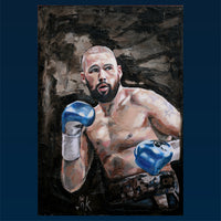 Tony Bellew Portrait Painting, special celebrity portraits by Jim Kook