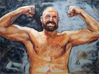 Tyson Fury Portrait Painting, special celebrity portraits by Jim Kook